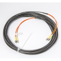 2 Fibre D-Series Cable 50/125µm (5mm Jacket, Black)