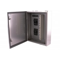 Outdoor Termination Enclosure, Stainless Steel, 60 Way